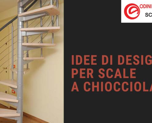 IDEE DI DESIGN PER SCALE A CHIOCCIOLA new
